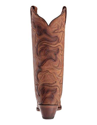 Dan Post Western Boots Donna Everlee Snip Toe Marrone Chiaro Dp3701 Marrone Chiaro / Marrone