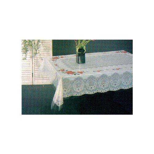 Amazon.com: Tablecloth, Floral, Vinyl Printed 70 Inches Round: Home U0026  Kitchen