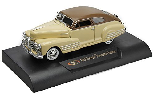 Signature Models 1948 Chevy Aerosedan Fleetline , Beige 32437 - 1/32 Scale Diecast Model Toy Car (Signature Model Cars)