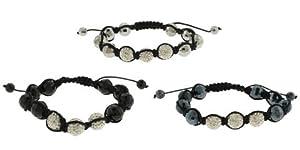"""12 Piece Wholesale Lot Fashion Jewelry """"SHAMBALLA"""" Style Bracelets 48b9354s"""