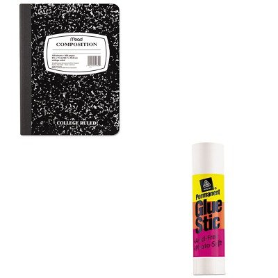 KITAVE00196MEA09910 - Value Kit - Avery Permanent Glue Stics (AVE00196) and Mead Black Marble Composition Book (MEA09910)