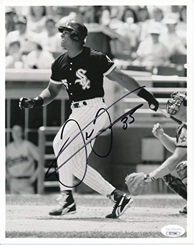 Frank Thomas Chicago White Sox HOF Signed/Autographed 8x10 B/W Photo JSA 144633