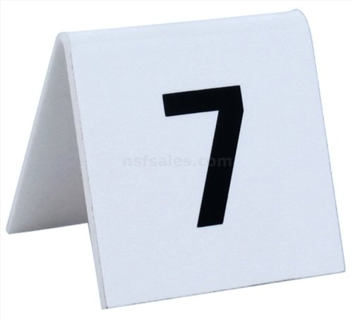 New Star 26757 1 to 25 Tent Style Acrylic Table Numbers, 2 by 1.7-Inch, White