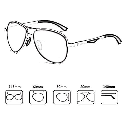 UV400 Gafas Color para sol sol de Aviator de Gafas E sol de 100 polarizadas hombre Gafas SSSX E conducir Gafas sol de para pgHqwX