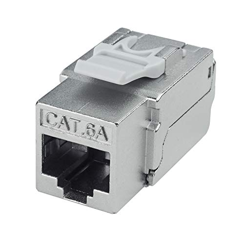 (LINKOMM 5-Pack RJ45 Cat6A STP Shielded Keystone Jack)