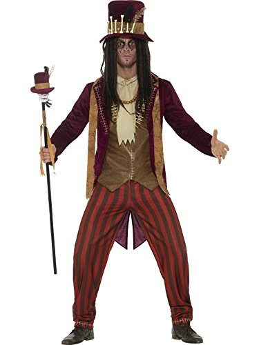 Smiffys Men's Deluxe Voodoo Witch Doctor Costume, Red, Large ()