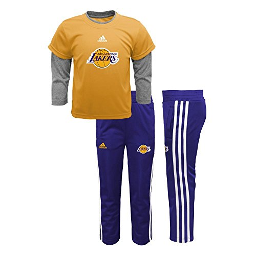 Lakers Adidas Jersey (Adidas Los Angeles Lakers Jersey Style Pant Set, 18 Months)