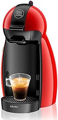 Krups Dolce Gusto Piccolo KP1006 - Cafetera de capsulas, 15 bares de presion, color rojo (Reacondicionado)