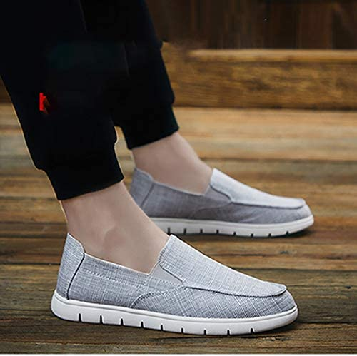 メンズ キャンバス スリッポン ローファー ローカット シューズ デッキシューズ 無地 ジュアル スニーカー 軽量 フラットシューズ 作業靴 運転靴 通勤 事務所 歩きやすい 合わせやすい 通気 北京布靴 老人靴