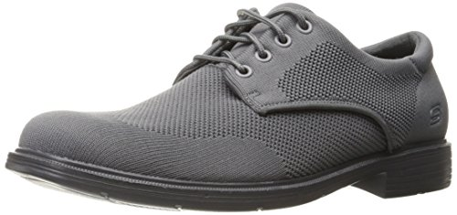 Skechers Mens Caswell Aleno Oxford Grijs