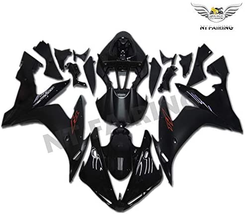 NT FAIRING Matte Black Gold Decals Injection Mold Fairing Fit for Yamaha 2004 2005 2006 YZF R1 R1000 YZF-R1 New Painted Kit ABS Plastic Motorcycle Bodywork Aftermarket
