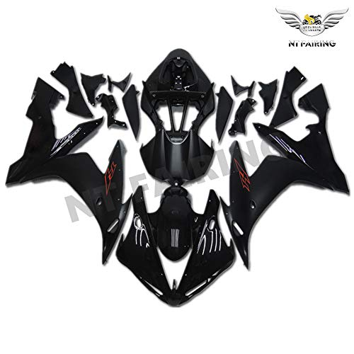(NT FAIRING Glossy Matte Black Injection Mold Fairing Fit for Yamaha 2004 2005 2006 YZF R1 R1000 YZF-R1 New Painted Kit ABS Plastic Motorcycle Bodywork Aftermarket)