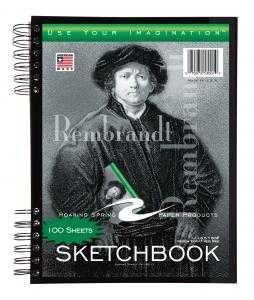 Bulk Sketch Books, w/pocket, 11x8.5, 60# paper, white, 100 Sheets: Roaring Spring 53101 (12 Sketch Pads) by Roaring Spring (Image #1)