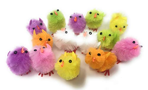 Bulk 72 Pack Chenille Chick Baby Shower or Easter Decoration Assortment