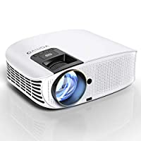 """HD Projector Connect to Smartphone, Vamvo Movie Projector 200"""" LCD Home Theater Video Projector Support 1080P HDMI VGA AV USB MicroSD for Home Entertainment, Party and Game L3600W"""