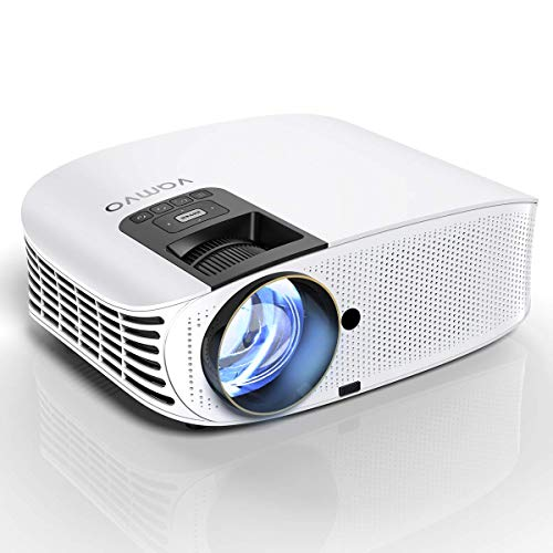 HD Projector Connect to Smartphone, Vamvo Movie Projector 200″ LCD Home Theater Video Projector Support 1080P HDMI VGA AV USB MicroSD for Home Entertainment, Party and Game L3600W