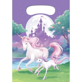 Unicorn Fantasy Favor Loot Bags (8 Pack)