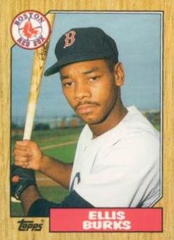 Baseball MLB 1987 Topps Traded #14 Ellis Burks RC Red Sox ()