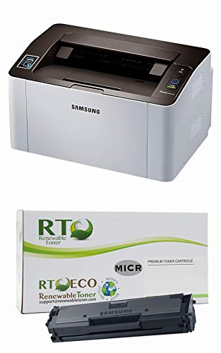 Renewable Toner M2020w Laser Check Printer Bundle with Compatible Samsung D111S MICR Toner Cartridge