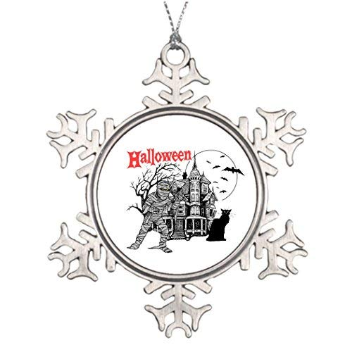 OneMtoss Christmas Snowflake Ornament Tree Decorating Ideas Halloween Haunted House Picture Snowflake -
