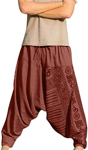 riflessivo conferenza registratore  NUSGEAR Pantaloni Harem Uomo Yoga Pantaloni Etnici Larghi Baggy Boho  Pantalone Retro Sciolto Biancheria di Cotone Pantaloni Zingari Uomo  Pantaloni alla Turca: Amazon.it: Abbigliamento