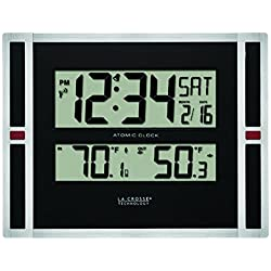 La Crosse Technology 513-149 11 inch Atomic digital wall clock with temperature