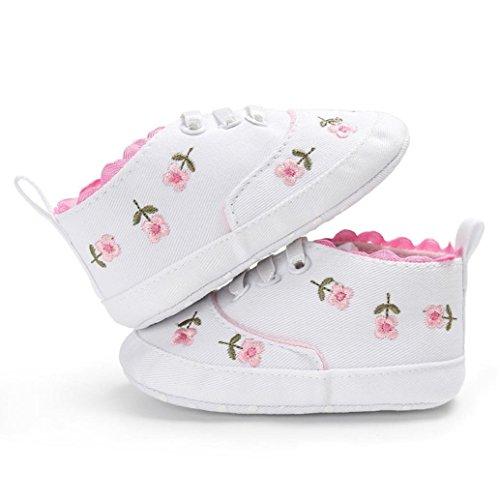 Kind Schuhe Neugeborenes Leinwand Soft Igemy Sole 1 Sneakers Anti Rutsch Weiß Krippe Blumen Paar Mädchen Baby wqqfEtx8C