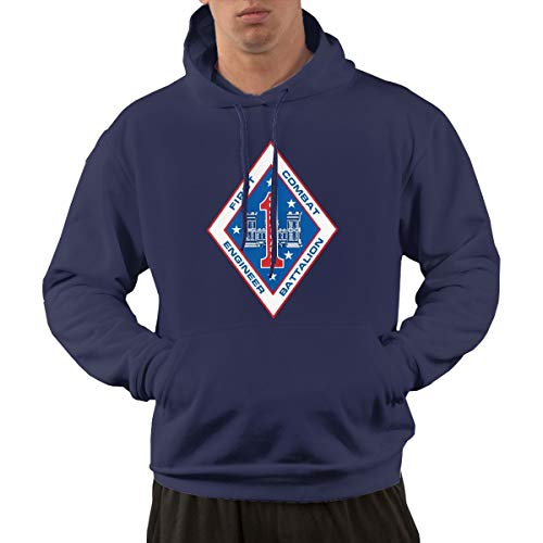 1st Combat Engineer Battalion Men's Hoodies Hooded Sweatshirt with ()