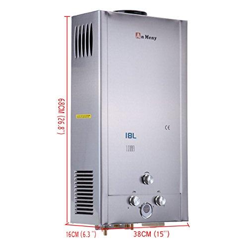 iglobalbuy 18L Gas GLP calentador instantáneo caliente calentador de agua calentador de agua con alcachofa de ducha: Amazon.es: Bricolaje y herramientas