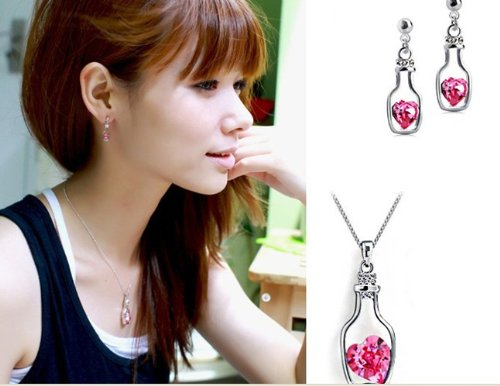Sunflower jewelry pink drafting bottle austrian crystal for Craft hobbies for women