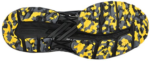 Asics Gt-2000 5 PLASMAGUARD, Scarpe da Trail Running Uomo Nero (Black/Carbon/Gold Fusion)