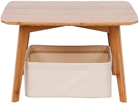 Small Coffee Table Square Tatami Table with a Storage Basket Furniture for Living Room