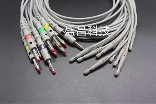 Data Cable Leads for Welch Allyn, 10 pcs/Bag, Fitness and Activity Monitor Cable, 4.0 Banana Plug Ending