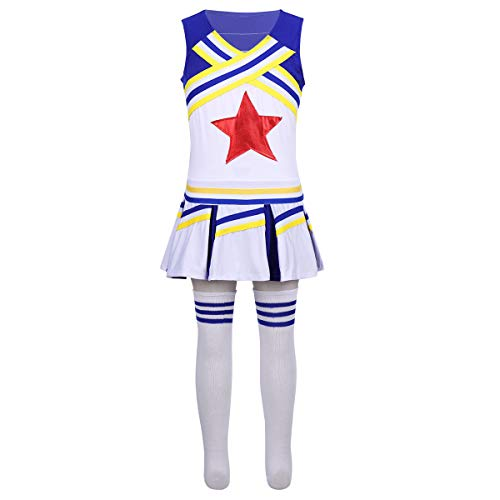 ranrann Kids Girls Cheer Leader Cheerleading Outfits Sleeveless