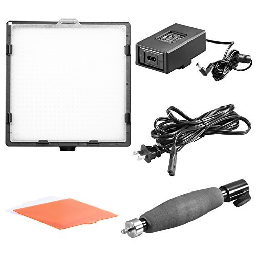 Diffusor Panel (Neewer CN-576 576PCS LED Dimmable Ultra High Power Panel Digital Camera / Camcorder Video Light with 3 Filters, LED Light 3200K to 5600K for Canon, Nikon, Pentax, Panasonic, Sony, Samsung and Olympus Digital SLR Cameras)