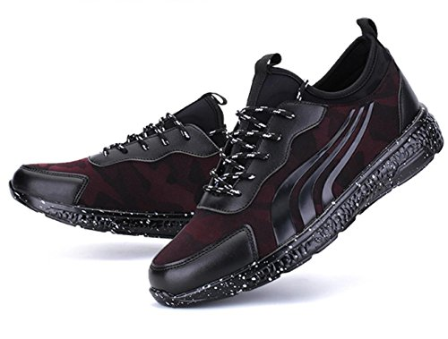 CSDM Uomo Retro Spray Point Sport Tempo libero Studenti Outdoor Running Scarpe Casual , black , 42