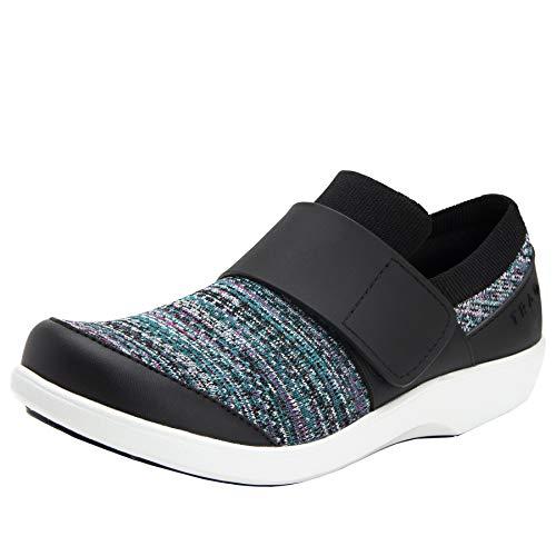 TRAQ BY ALEGRIA Qwik Womens Smart Walking Shoe Flurry Black 8 M US