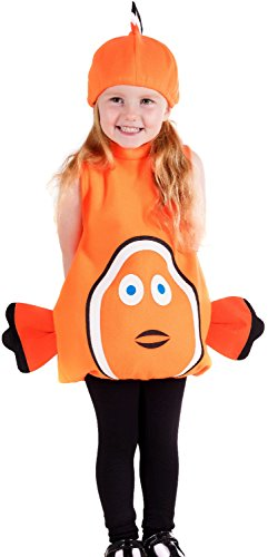 Toddler Child Boys Girls Orange Clown Fish Under The Sea TV Book Film World Book Day Week Fancy Dress Costume Outfit (1-2 Years) -
