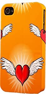 LJF phone case Heart With Wings Pattern Dimensional Case Fits Apple iphone 6 plus 5.5 inch