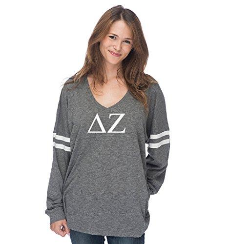 Sorority Letters Shop Delta Zeta Varsity Long Sleeve T-Shirt