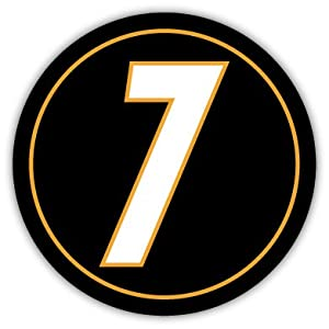 "N7 Number 7 Ben Roethlisberger Pittsburgh Steelers sticker decal 4"" x 4"" at Steeler Mania"