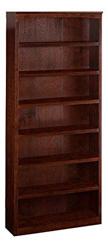 Harvard Book Shelf, 84-Inch, Antique Walnut by Atlantic Furniture
