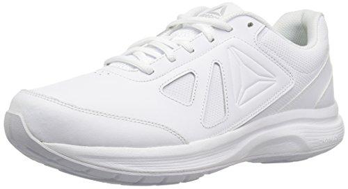Reebok Women's Ultra 6 DMX Max D Walking Shoe, White/Steel-Wide d, 8 M US by Reebok