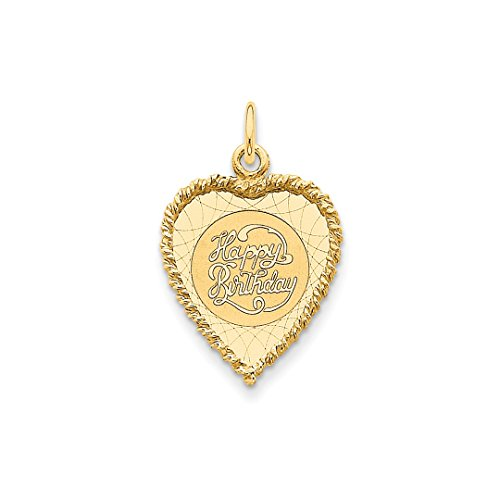 18th Yellow Scale (14k Yellow Gold Happy Birthday Pendant Charm Necklace Special Day Fine Jewelry Gifts For Women For Her)
