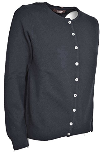 Clásico Cachemira Mujer Gris T camisa Redondo Cardigan Doble Conjunto Pratino Cuello De q7vTz