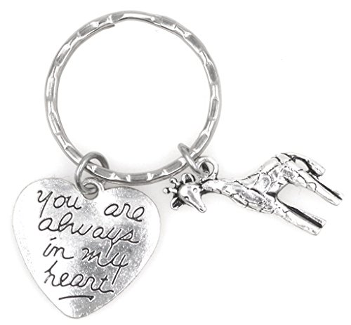 You are Always in My Heart Giraffe Keychain 110G