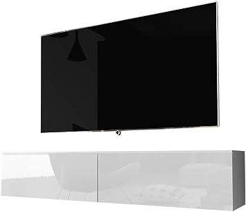 Selsey Kane Mueble para televisión, Color Blanco Mate y Blanco Brillante, 140 cm: Amazon.es: Hogar