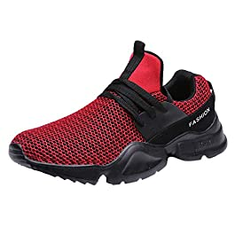 Men Mesh Letter Solid Elastic Running Sport Flat Ankle Round Toe Casual Shoes 2020