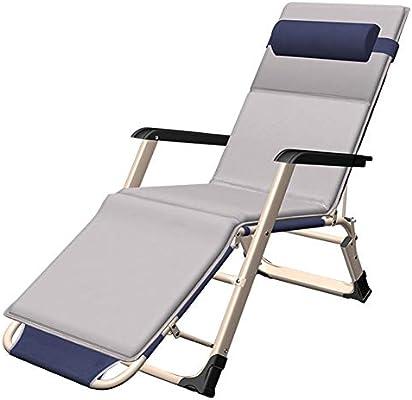 Tumbonas, Silla XL de Gran Gravedad con cojín, Silla reclinable Ajustable reclinable para Patio de jardín, soporta 440lbs: Amazon.es: Hogar