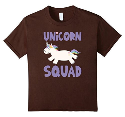Kids Unicorn Squad T-Shirts Rainbow Fantasy Gift Princess Costume 10 (Halloween Costumes For Brown Haired Woman)